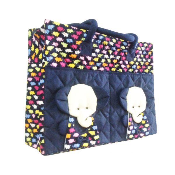 elephant cotton handbag