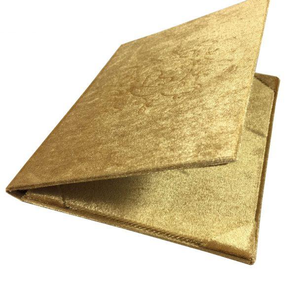 embossed velvet folder