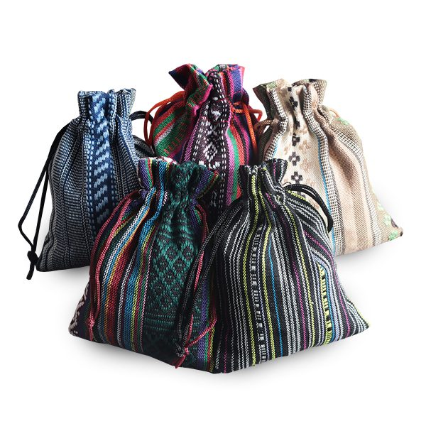 Ethnic cotton pouches from Thailand