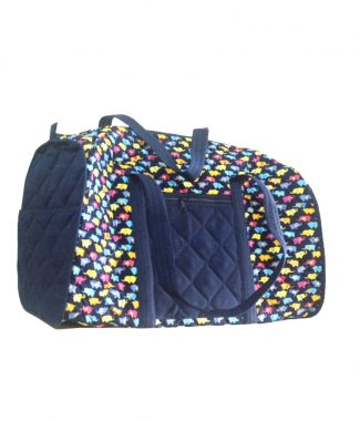 large quilted elephant luggage bag