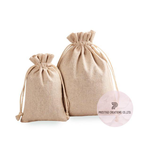 Linen drawstring bags