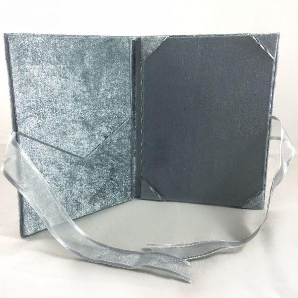 Luxury velvet pocket folder