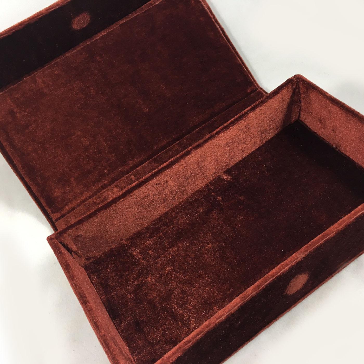 Thai Wedding Gifts: Vintage Monogram Embossed Velvet Box For Wedding Cards