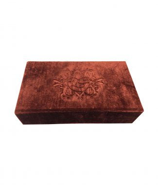 monogram embossed velvet box