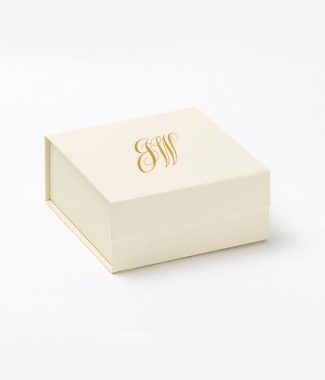 ivory monogram wedding box
