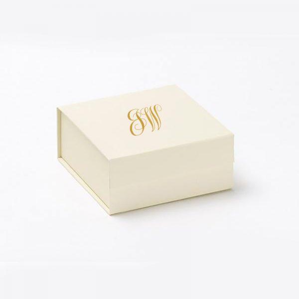 ivory monogram wedding box