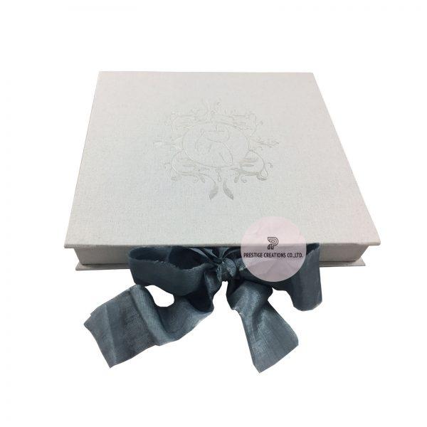 monogram wedding boxes