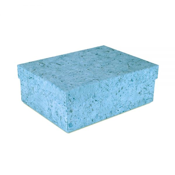 aqua blue mulberry paper box