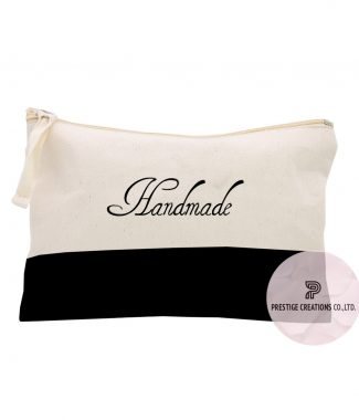 personalized cotton cosmetic bags