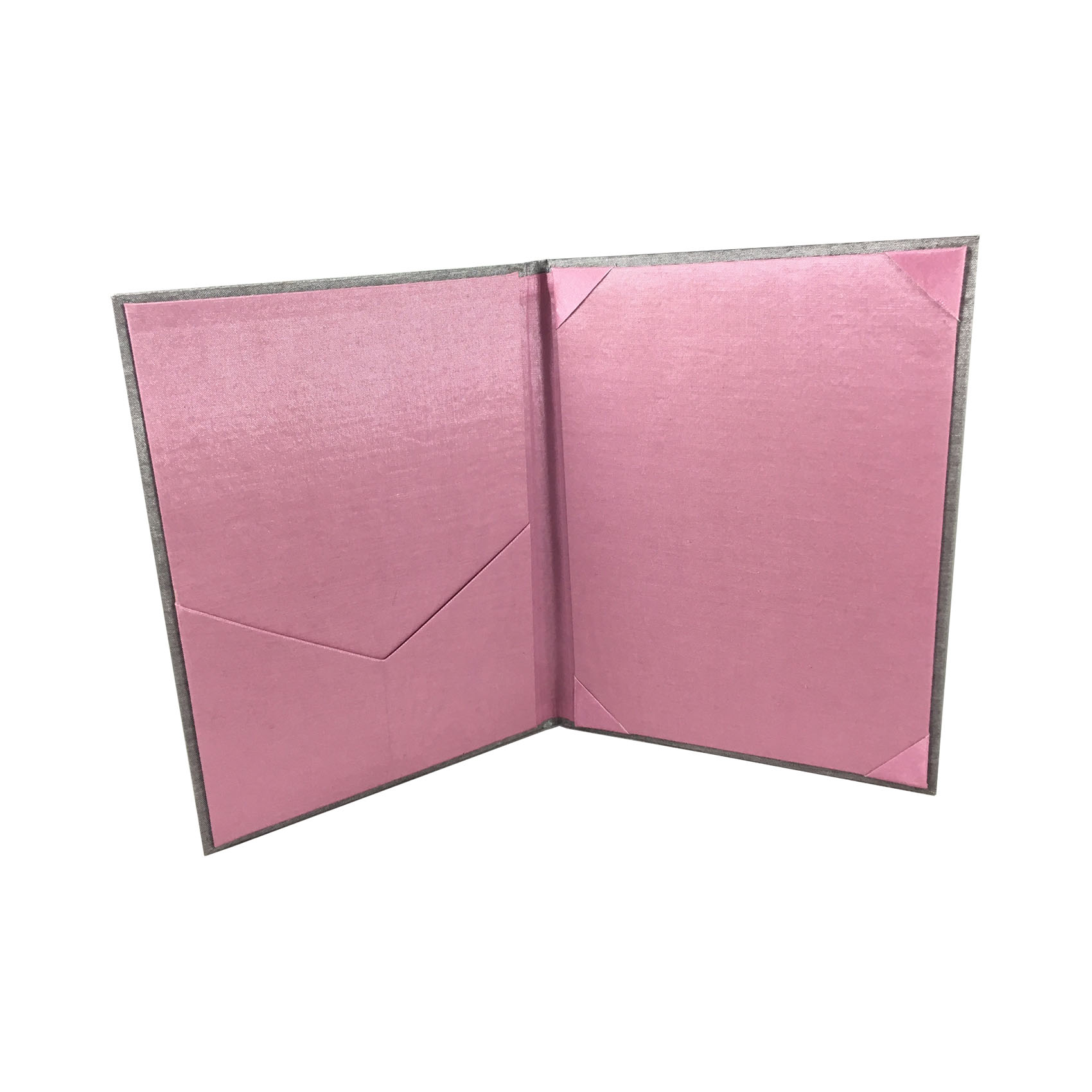 Wedding Invitation Folders With Pocket: Foil Stamped Wedding Invitation Silk Folder Pocket Holder