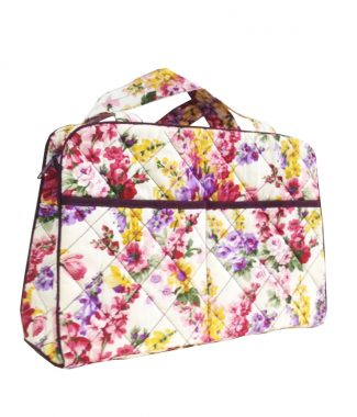 Quilted flower pattern handbag