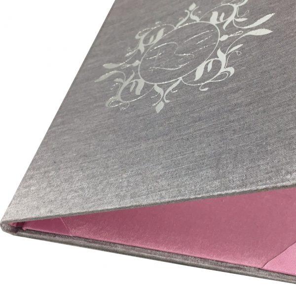silk folio for wedding cards
