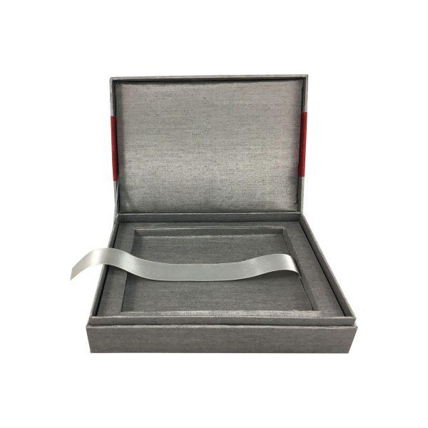 silver thai silk box