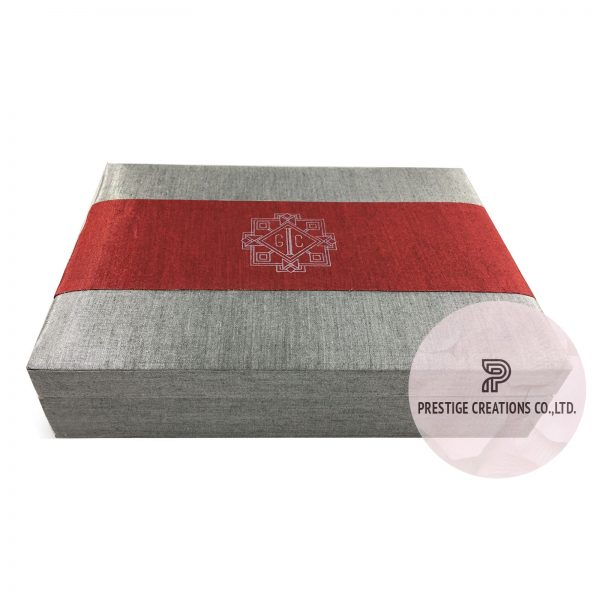 Thai silk wedding box for acrylic cards that can be customized