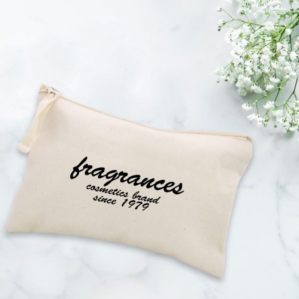 Logo cotton cosmetic bags
