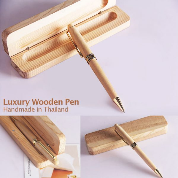 Luxury wooden ball pen gift set