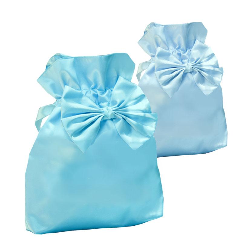 241a91cf955 Luxury Soft Blue & Tiffany Blue Silk Drawstring Bags For Wedding Favour