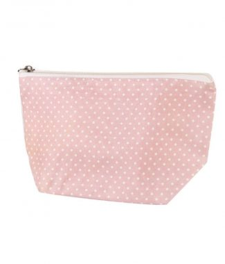 polkadot cotton cosmetic bag