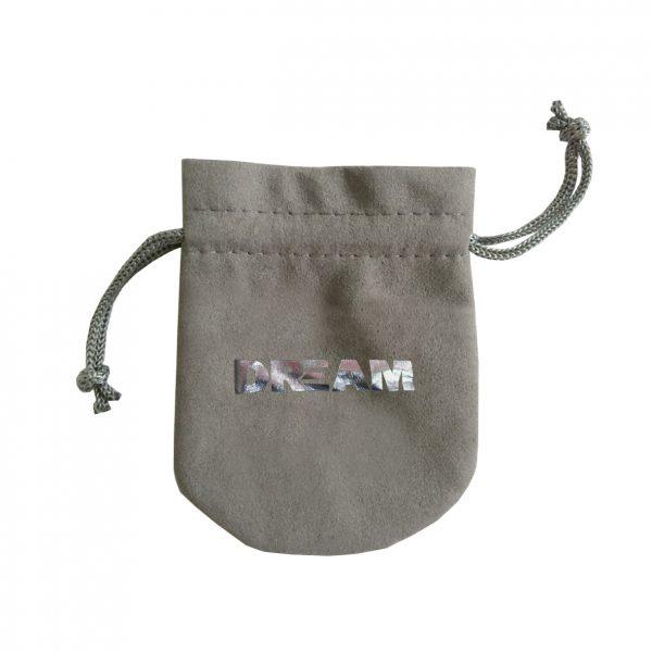 foil stamped suede bag