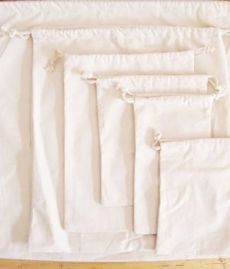 Thai cotton drawstring bags