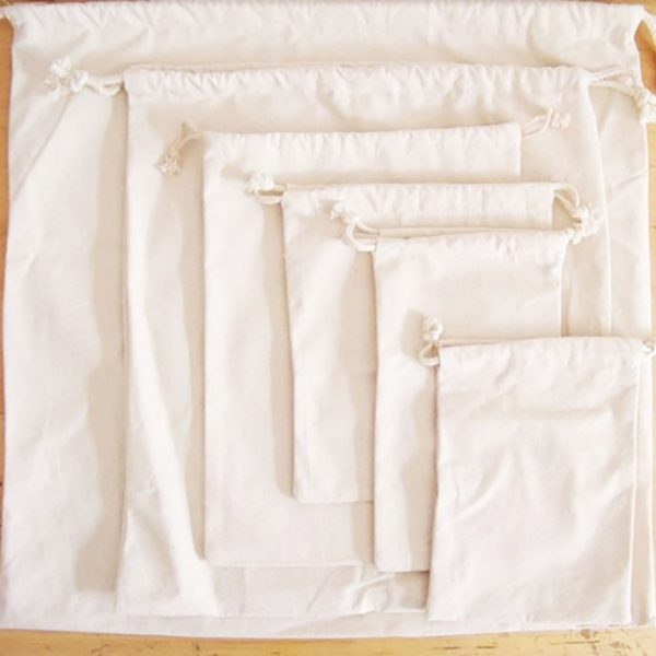 Thai cotton drawstring bags