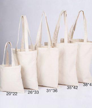 plain cotton shopping bag