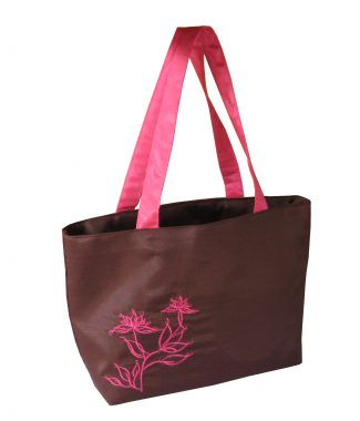 Embroidered silk fashion women handbag