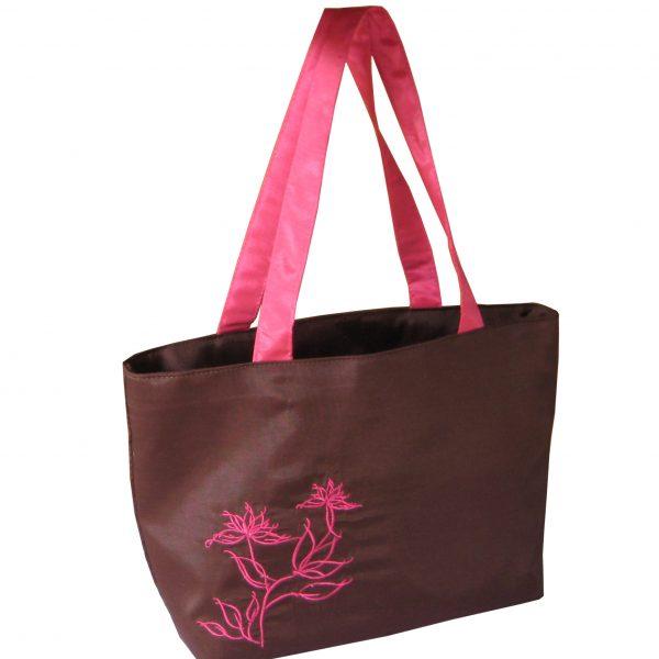 Embroidered silk fashion women handbag