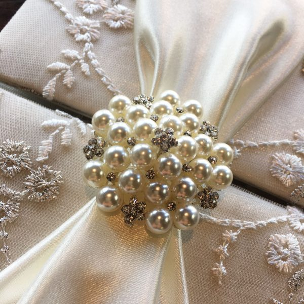 ivory lace invitation
