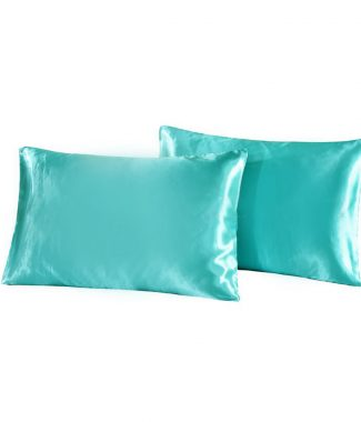 aqua blue silk cushions