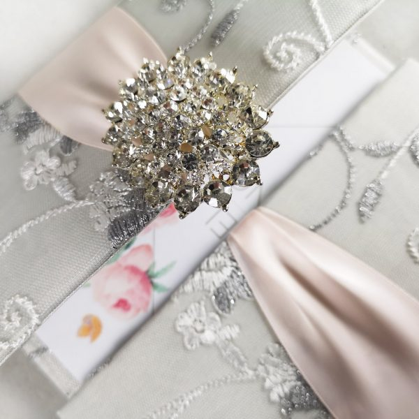 Elegant lace invitation