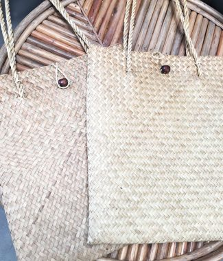 sea grass shoulder market bags