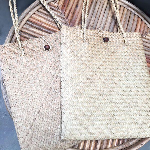 sea grass shoulder market bags