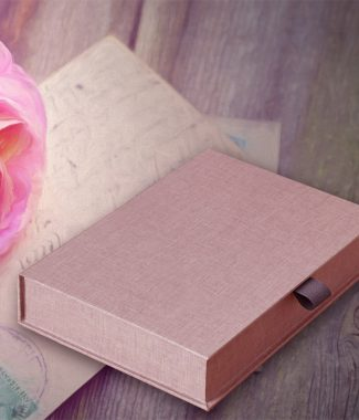 stylish linen photo box