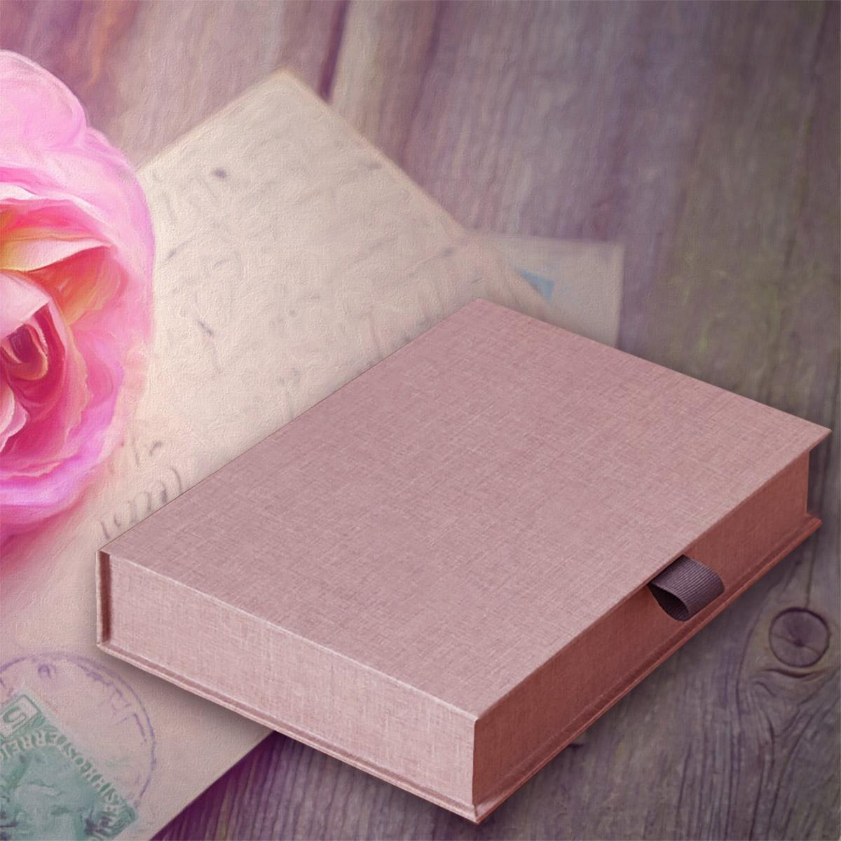 Brown Linen Photo Box & Portfolio Boxes