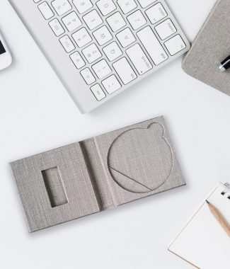 Linen USB Stick & CD Gift Box Wholesale
