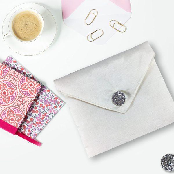 white wedding invitation envelope