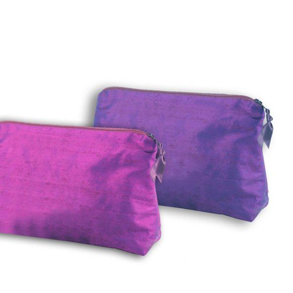 Blank silk cosmetic bags