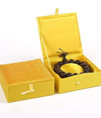 Brocade silk jewellery box