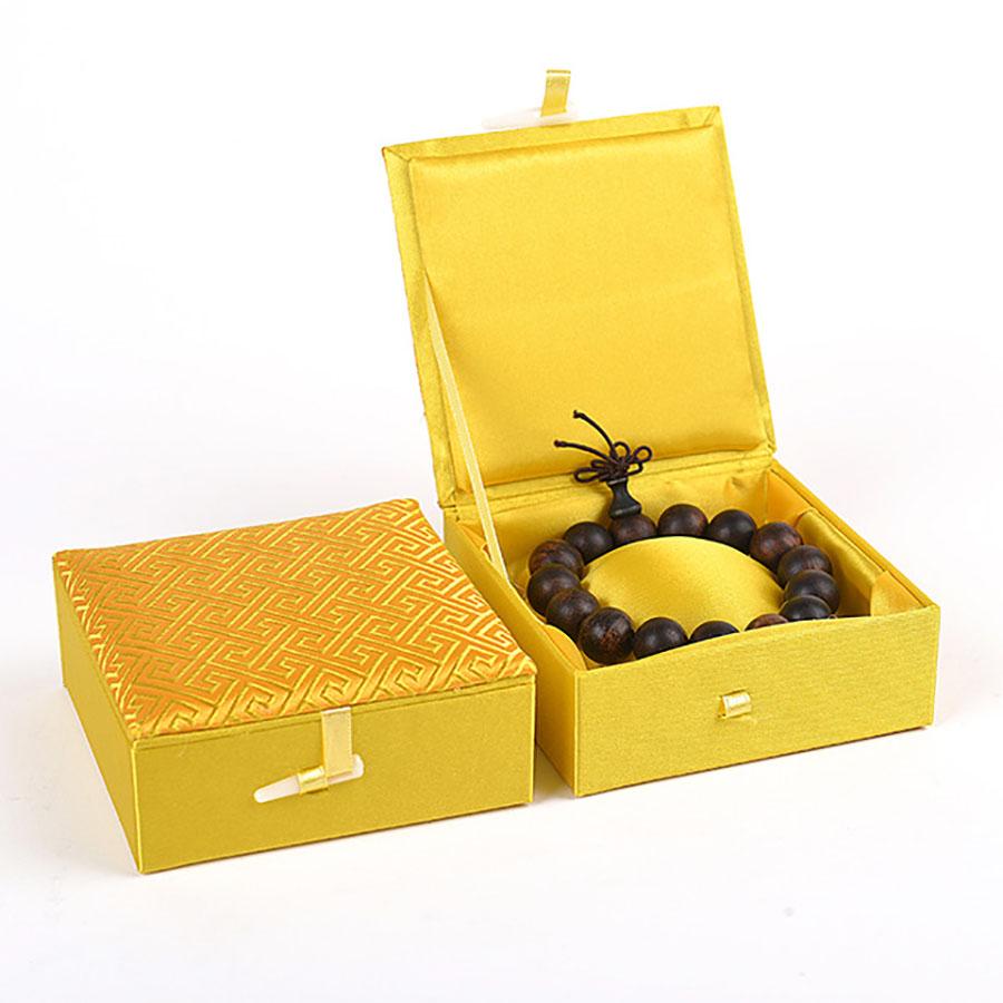Brocade silk jewellery box