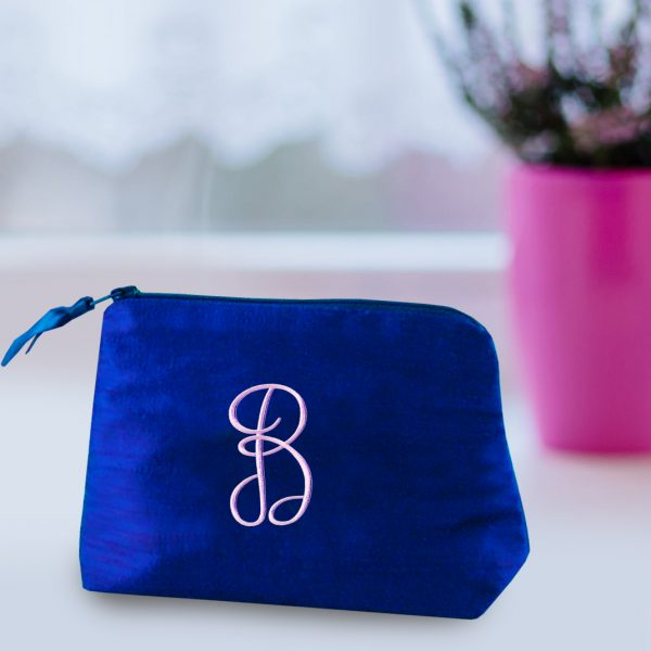 personalized silk cosmetic bags