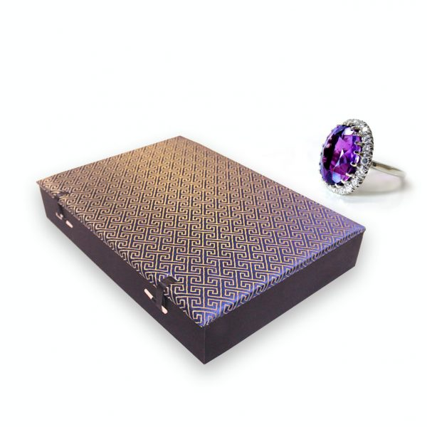 brocade silk jewelry box