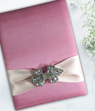 pink silk folio wholesale