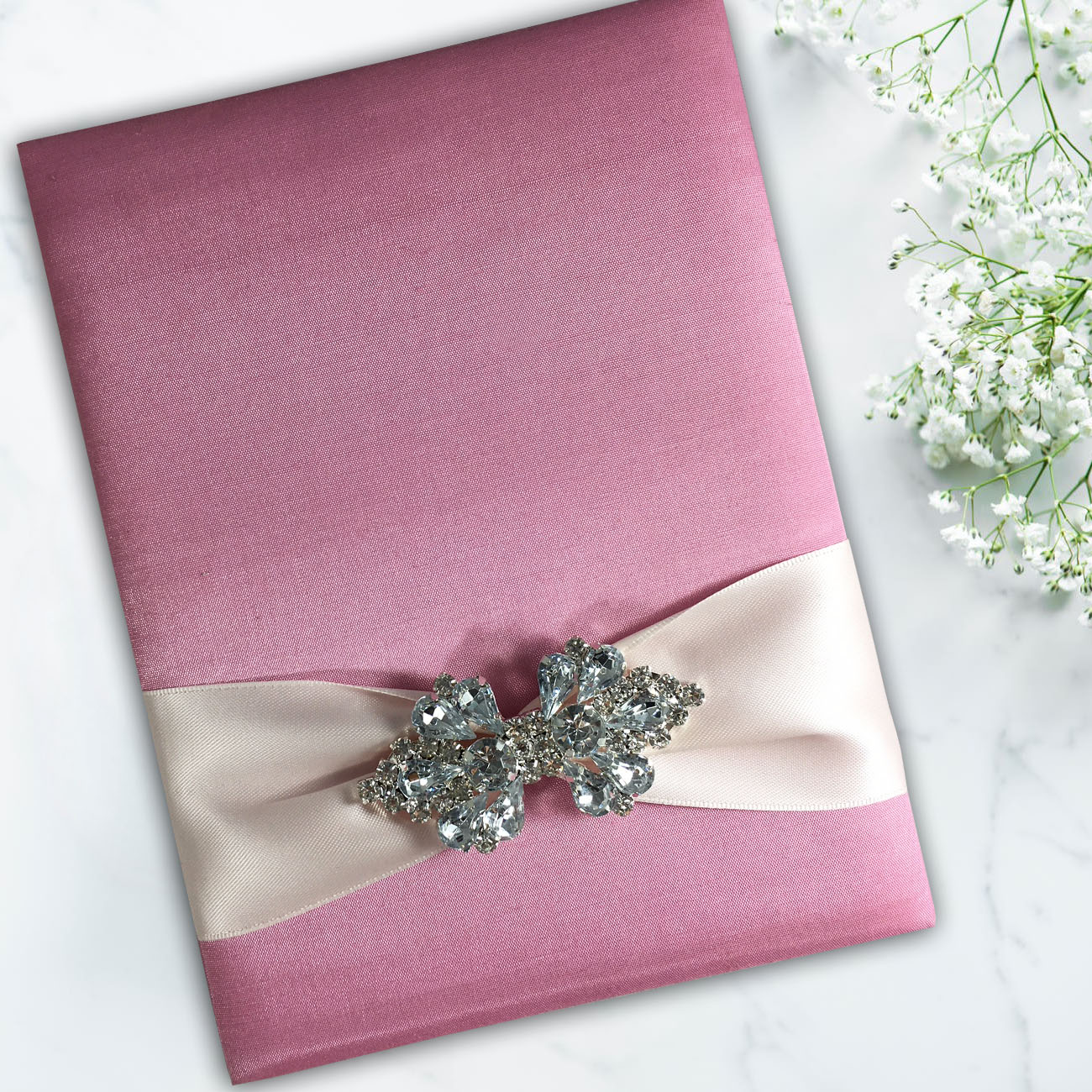 pink silk folio wholesale