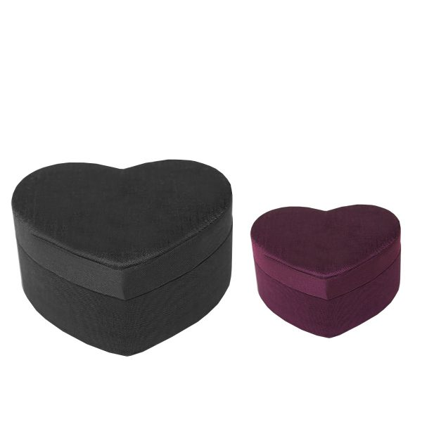 Heart shaped silk box
