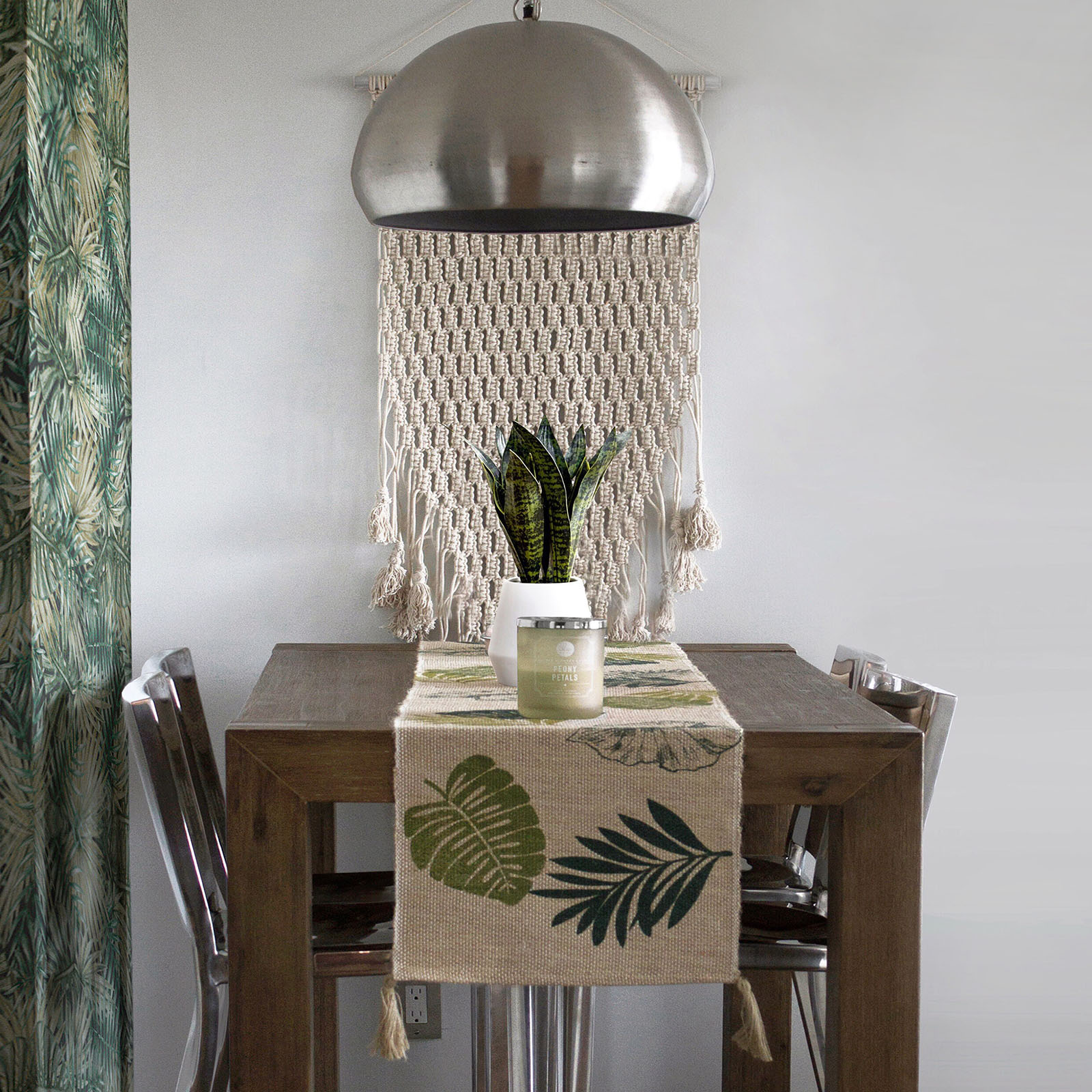 Home Items: #1 Handmade Printed Hemp Table Throw For Environment