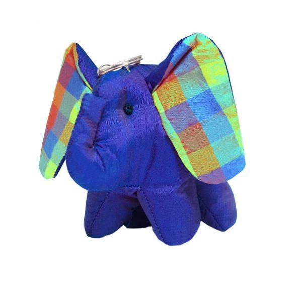 silk elephant keychain