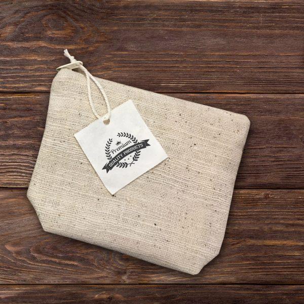 Small hemp cosmetic bag