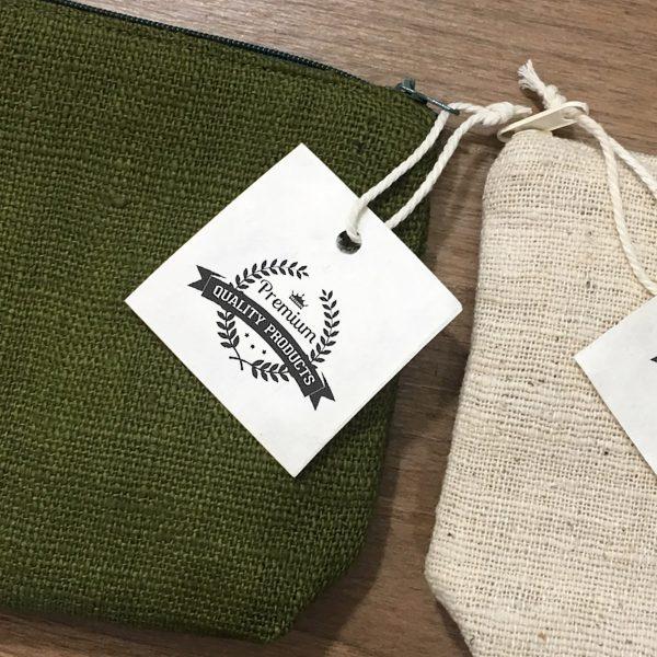 Logo printed hemp pouches