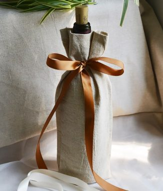 linen wine bottle bag